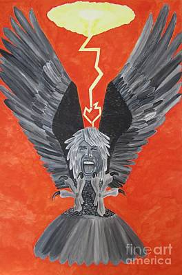 Poster featuring the painting Steven Tyler As An Eagle by Jeepee Aero