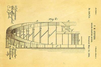 Stevens Roller Coaster Patent Art  2 1884 Poster