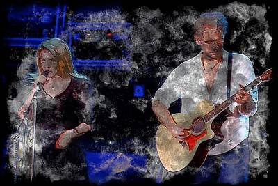 Stevie And Lindsey Poster by John Delong