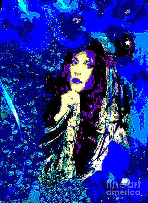 Stevie Nicks In Blue Poster by Alys Caviness-Gober