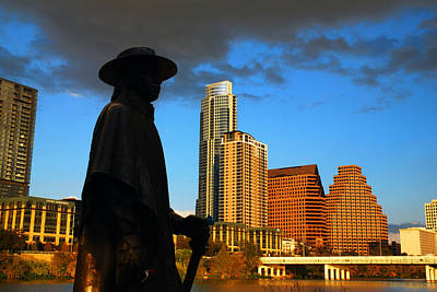 Poster featuring the photograph Stevie Ray In Austin by James Kirkikis