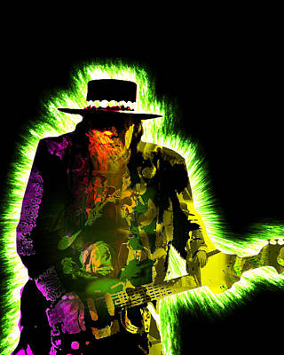 Stevie Ray Vaughan Poster by Michael Lee