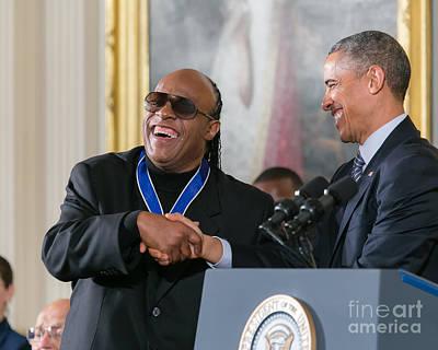 Stevie Wonder - Medal Of Freedom Poster by Ava Reaves