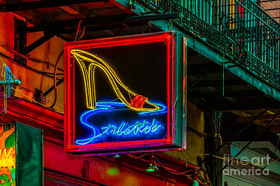 Stilettos On Bourbon Street Nola Poster