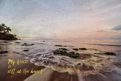 Still At The Beach Poster by Ramona Murdock