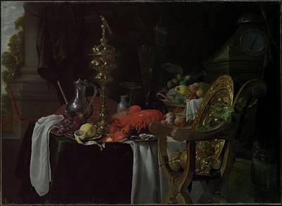 Still Life A Banqueting Scene Poster by Jan Davidsz de Heem