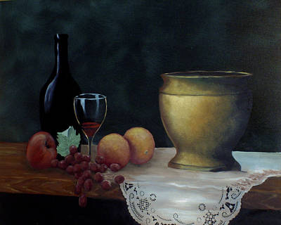 Poster featuring the painting Still Life by Debra Crank