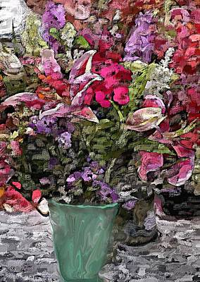 Poster featuring the digital art Still Life Floral by David Lane