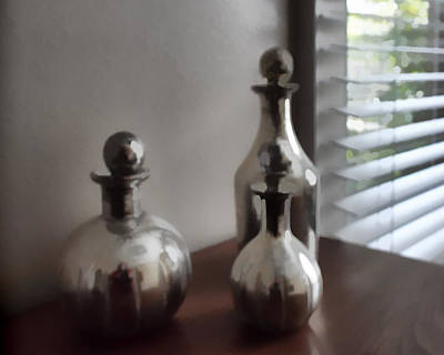 Still Life In Silver 2 Poster by Cathy Anderson