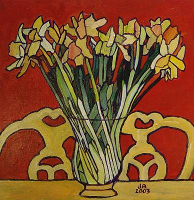 Still Life Of Flowers Poster by Janet Ashworth