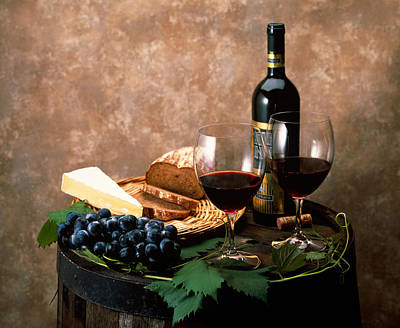 Still Life Of Wine Bottle, Wine Poster by Panoramic Images