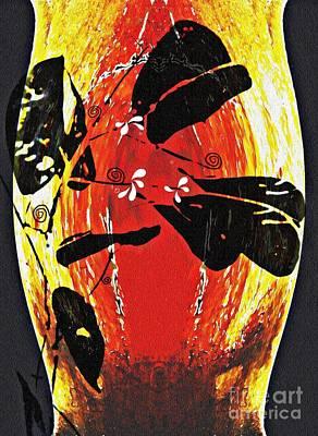Still Life Outside The Vase Poster