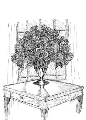 Still Life Roses Poster by Lee Halbrook