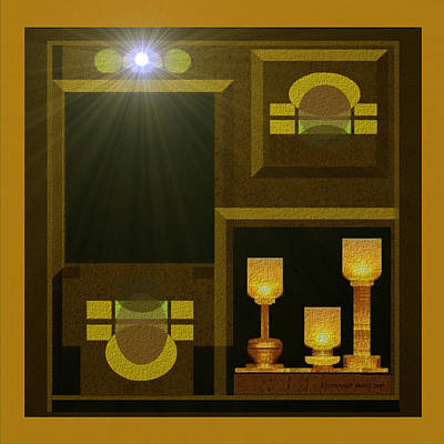 Still-life With A  Light - 168 Poster by Irmgard Schoendorf Welch