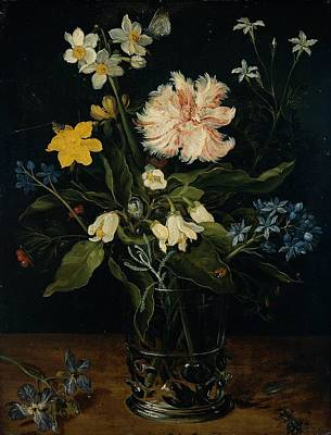 Still Life With Flowers In A Glass Poster