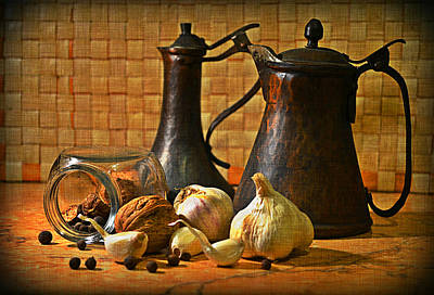 Still Life With Garlic Poster