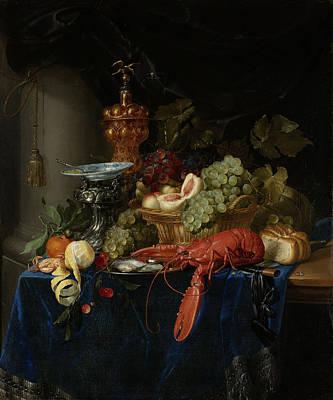 Still Life With Golden Goblet, Pieter De Ring Poster