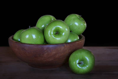 Still Life With Green Apples Poster by Nikolyn McDonald