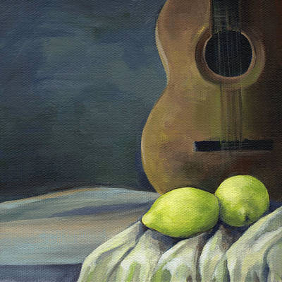 Still Life With Guitar Poster