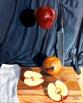 Still Life With Orange  No. 4 Poster