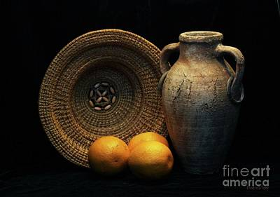 Poster featuring the photograph Still Life With Oranges by Dodie Ulery