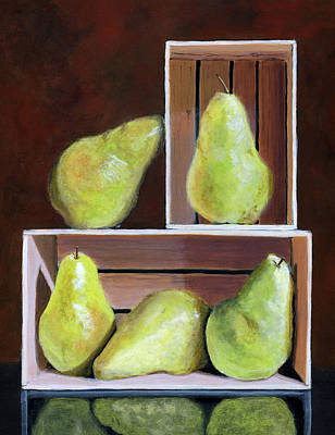 Still Life With Pears Poster by Karyn Robinson