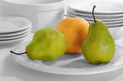 Still Life With Pears Poster by Krasimir Tolev