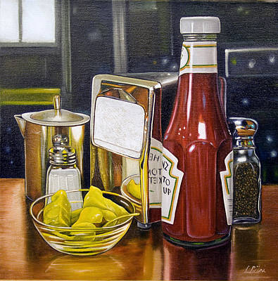 Still Life With Peppers Poster by Vic Vicini