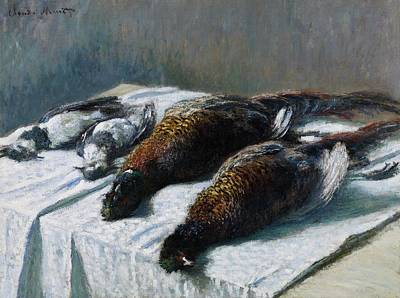 Still Life With Pheasants And Plovers Poster by Claude Monet