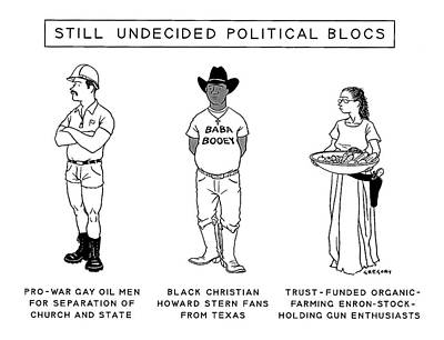 Still Undecided Political Blocs Poster