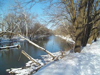 Poster featuring the photograph Still Water River Winter by Eric Switzer