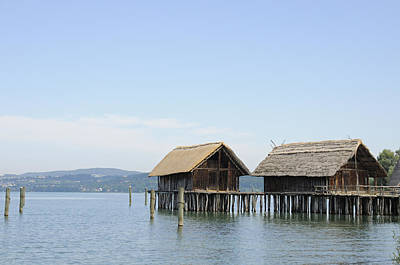 Stilt Houses In The Water Lake Constance Poster by Matthias Hauser