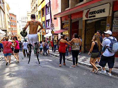 Stilt Walker - Sao Paulo Poster by Julie Niemela