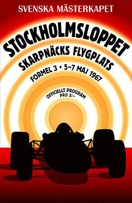 Stockholm Formula 3 1967 Poster by Georgia Fowler