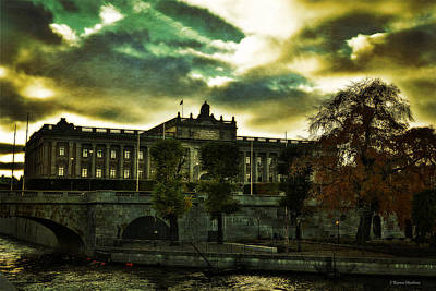 Stockholm In Autumn Iv Poster by Ramon Martinez
