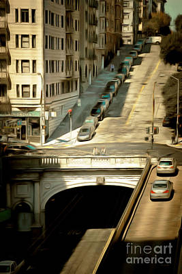 Stockton Street Tunnel San Francisco 7d7499brun Poster by Wingsdomain Art and Photography