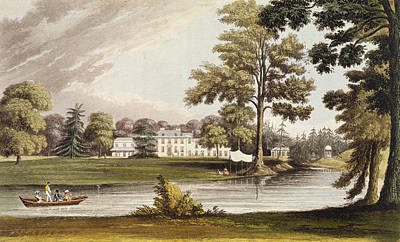 Stoke Place, From Ackermanns Repository Poster by John Gendall