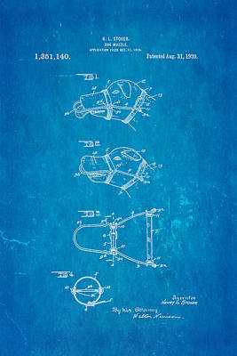 Stoker Dog Muzzle Patent Art 1920 Blueprint Poster