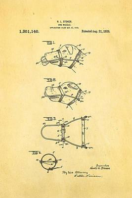 Stoker Dog Muzzle Patent Art 1920 Poster