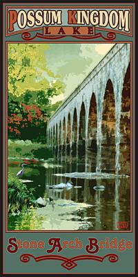 Stone Arch Bridge Possum Kingdom Poster