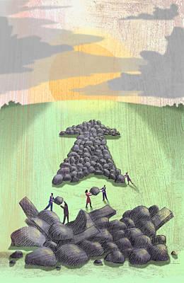 Stone Arrow Poster by Steve Dininno