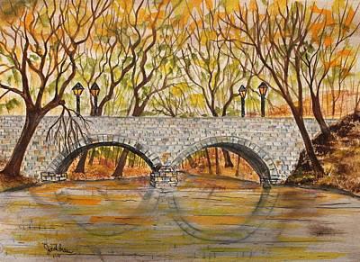 Stone Bridge Poster by Jack G  Brauer