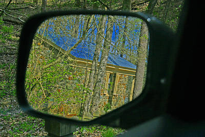 Poster featuring the photograph Stone Cabin Reflection by Andy Lawless