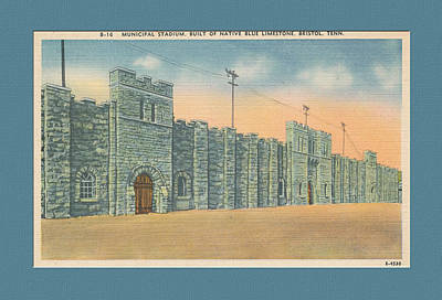 Stone Castle Bristol Tn Built By Wpa Poster