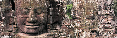 Stone Faces Bayon Angkor Siem Reap Poster by Panoramic Images
