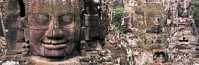 Stone Faces Bayon Angkor Siem Reap Poster