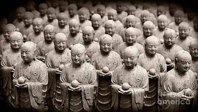 Stone Figures Of Jizo Poster