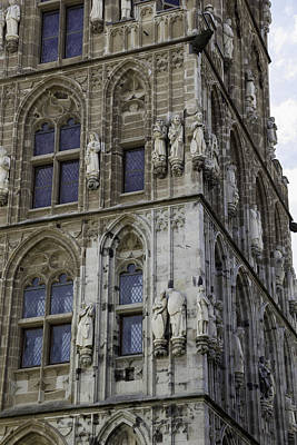 Stone Figures On City Hall Cologne Germany Poster by Teresa Mucha