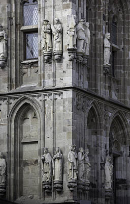 Stone Figures On Rathaus Cologne Germany Poster by Teresa Mucha