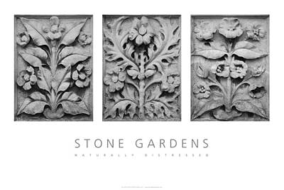 Poster featuring the digital art Stone Gardens 1 Naturally Distressed Poster by David Davies